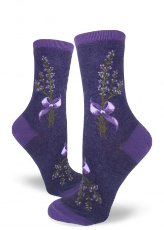 Lavender Harvest Women's Crew Socks purple