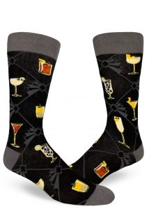 Cocktail socks for men gift ideas for christmas by ModSocks.